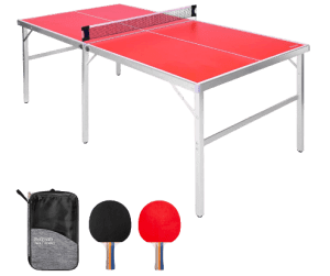 GoSports 6'x3' Mid-Size Ping Pong Game set