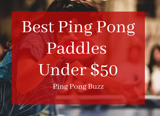 Best Ping Pong Paddles Under $50