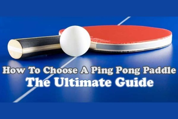 ping pong paddle rubber