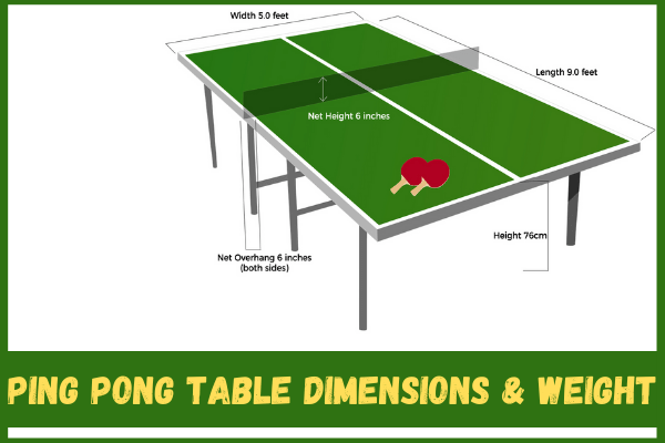 How Much Does a Ping Pong Table Weigh? 2021 ultimate guide
