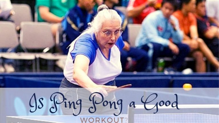 Playing Ping Pong for exercise