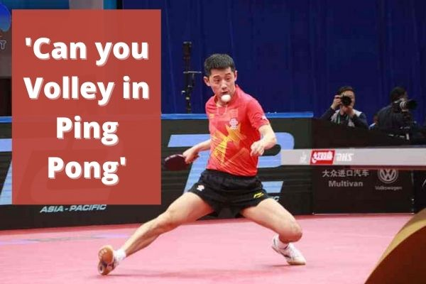 can you volley in ping pong