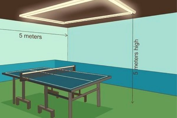 Standard Table Tennis Table Size and Room,  standard ping pong table size in inches